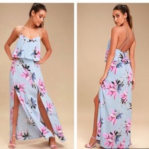 O'niell- milly periwinkle floral maxi dress